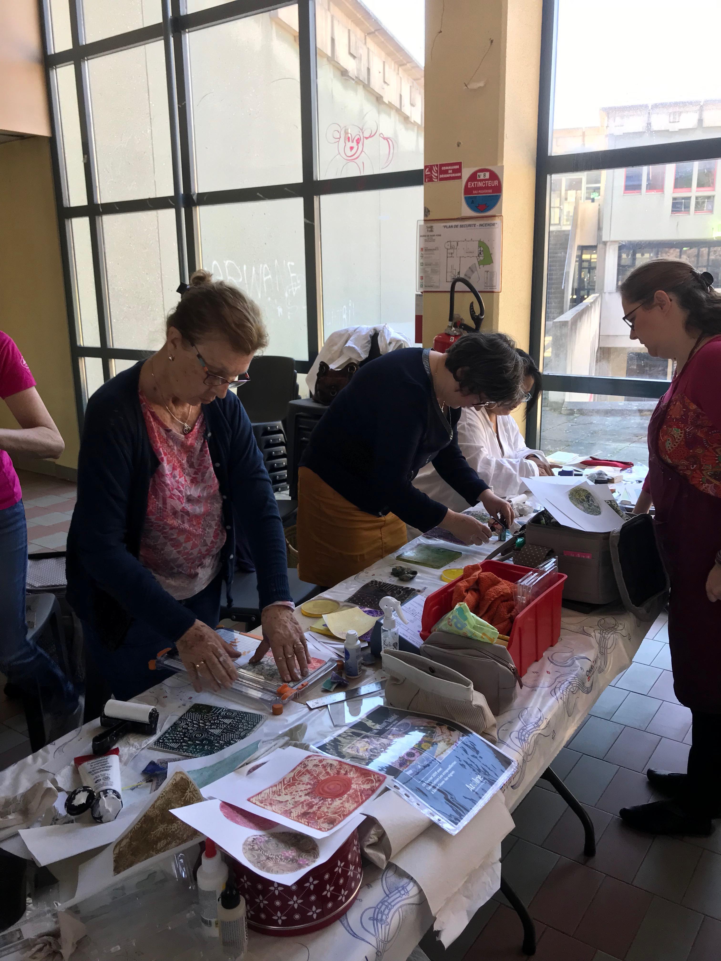 10 ans d'Aka Scrap en 2018 : Atelier avec Azoline
