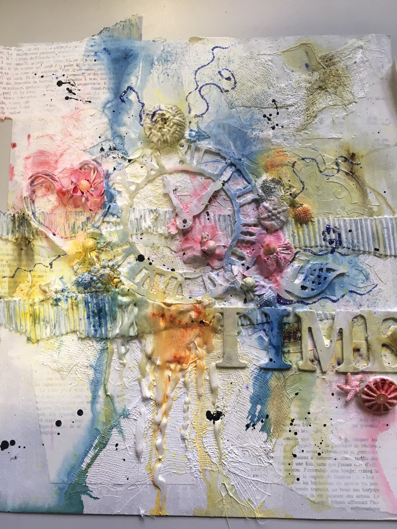 2018 : Atelier mixed-Media avec
